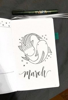 March cover page! Pisces season 🐟 : bulletjournal March cover page! Pisces season 🐟 : bulletjournal,BuJo Inspiration March cover page! Bullet Journal School, Bullet Journal Comment, Bullet Journal Cover Ideas, March Bullet Journal, Bullet Journal Banner, Bullet Journal Writing, Bullet Journal Aesthetic, Bullet Journal Spread, Bullet Journal Layout