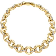 "Estate Cartier 18k Gold ""Trinity"" Link Necklace"