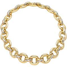 "Estate Cartier 18k Gold ""Trinity"" Link Necklace"