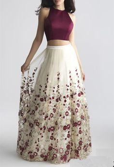 Charming Two-Piece Prom Dress,A-Line Prom Dress with Embroidery,Burgundy Sleeveless Prom Gown sold by SexyPromDress. Shop more products from SexyPromDress on Storenvy, the home of independent small businesses all over the world. A Line Prom Dresses, Grad Dresses, Homecoming Dresses, Evening Dresses, Formal Dresses, Dress Prom, 2 Piece Prom Dress, Dress Wedding, Dress Long