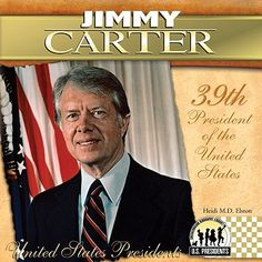 Jimmy Carter (born October an American politician who served as the US President from 1977 to In he was awarded the Nobel Peace Prize for his work with the Carter Center. Carter was a Democrat who was raised in rural Georgia. Republican Presidents, Us Presidents, American Presidents, American History, Jimmy Carter, Nobel Peace Prize, Book Format, United States, Books