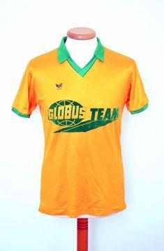 watch c131c a3419 vintage 80s ERIMA short sleeve FOOTBALL SHIRT jersey mens Medium West  Germany Vintage Adidas, My