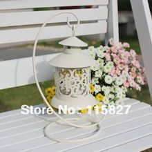 Wedding gift Weddings lantern iron Candle Holder House decoration white artcraft(China (Mainland))