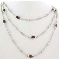 Garnet and White Topaz Stone by the Yard paradisojewelry.com wholesale sterling and genuine gemstones