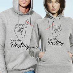 With this cute Hooded sweatshirt gift set for couples you can show your other half, how much do you love him or her. Matching couple hoodies with unique design is an amazing present for couples. IMPORTANT: PLEASE CHECK THE SIZE CHART BEFORE ORDERING! High quality hooded sweatshirts made of