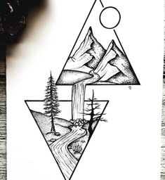 Tumblr Drawings, Art Drawings Sketches Simple, Pencil Art Drawings, Easy Drawings, Simple Tattoo With Meaning, Tattoos With Meaning, Easy Sketches For Beginners, Henna Tattoo Hand, Stippling Art