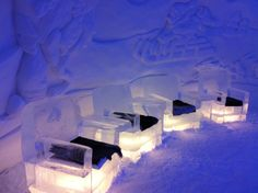The Kirkenes Snowhotel is a hotel built from snow and ice in Kirkenes