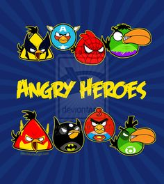 Angry Birds - Angry Heroes by ~Olechka01 on deviantART