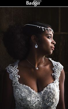 Dramatic portrait of our gorgeous bride in a stunning lace & bead sheath. Wedding in Sofitel Montreal, wedding photography by Badger Photography.
