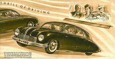 Dark Roasted Blend: The Tatra Streamlined, Fast and Mostly Unknown Technical Illustration, Car Illustration, Illustrations, Ferdinand Porsche, Aircraft Design, Car Manufacturers, Dieselpunk, Big Trucks, Old Cars