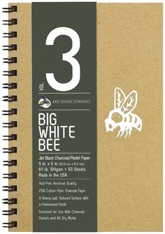 Big Black Bee 9X9 Bogus Recycled Sketch Pad