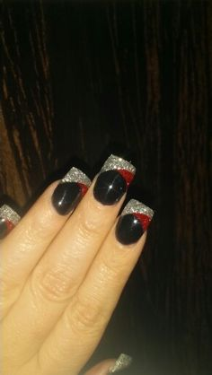 Love the way these came out :) Elegant and classy.. Black red and silver acylic :)