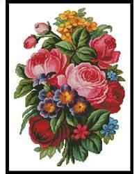 victorian bouquet by artecy cross stitch
