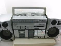 RARE JVC PC R55JW Boombox Ghettoblaster Good Condition Working RARE Type | eBay