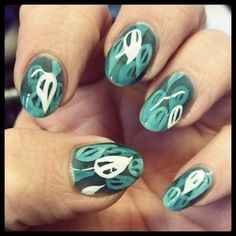 #Halloween #mani part deux, I call these my #RiverStyx #nails... #spooky!