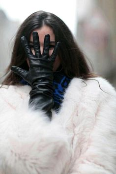 Fox Fur and Leather GLOVES FASHION