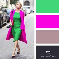 Colour Combinations Fashion, Color Combinations For Clothes, Fashion Colours, Colorful Fashion, Color Combos, Color Harmony, Color Balance, Looks Plus Size, Color Pairing