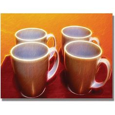 Trademark Art 'Java Cups' Canvas Art by Kathie McCurdy, Size: 18 x 24, Multicolor