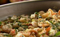Prawns with toasted garlic: camerones de ajo Recipe by Tyler Florence