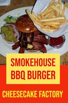 Ich liebe den Smokehouse BBQ Burger in der Cheesecake Factory. Bbq Burger, Chili Burger, Cheese Cake Factory, Oreo Shake, Smokehouse Bbq, Bacon On The Grill, Los Angeles Travel, Sheet Cake Recipes, Multigrain