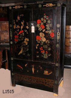 Antique leadlight mirror back half round oak display for Oriental furniture melbourne