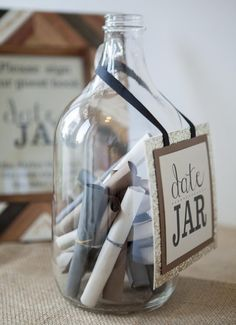 Date Night Wedding Guestbook. Dig into your jar with sweet notes written by all your guests to fill your daily life with beautiful things and sweet memories.