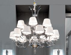 """Signature Collection: Special Order Design: Grand 43"""" Dia Classic Chrome & Leather Chandelier * Pricing By Quotation"""