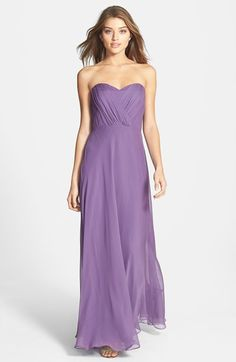 Free shipping and returns on Vera Wang Shirred Chiffon Gown at Nordstrom.com. Shirred panels crisscross the strapless bodice to create flattering dimension on an enchanting chiffon gown finished with a flowing full-length skirt.
