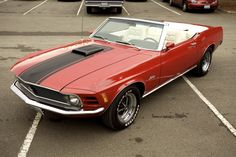 1970 Red Ford Mustang Convertible