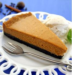 Anyone looking for an alternative to sweet potato pie should give this vegan sweet potato cheesecake a try.  #recipe4change