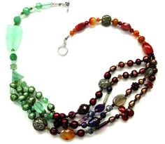 Reward yourself with a look inspired by natural color and texture Beaded Necklaces, Gemstone Necklace, Gemstone Beads, Beaded Jewelry, Jewelry Sets, Jewelry Making, Natural Selection, Necklace Ideas, Carnelian