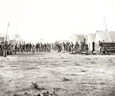 La 13 de artillería pesada de Nueva York, jugando a la pelota. Petersburgh, Virginia 1864/1865.