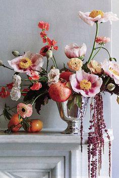 bouquet of flowers - photography by David Prince Peony Wedding Arrangements, Peony Bouquet Wedding, Beautiful Flower Arrangements, Floral Centerpieces, Beautiful Flowers, Wedding Flowers, Ikebana, Flower Power, Flower Cart