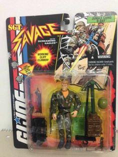 GI JOE Sgt Savage JUNGLE CAMO D-DAY Action Figure 1994