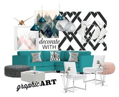 """""""Decorate with Graphic Art"""" by neicy-i ❤ liked on Polyvore featuring interior, interiors, interior design, home, home decor, interior decorating, Arper, Baxton Studio, Moooi and BoConcept"""