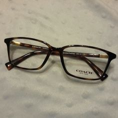 Coach Eyeglass Frames Women's Coach brand eyeglass frames for prescription glasses. Coach HC 6077 Eyeglasses 5120 Dark Tortoise color with Gold logo and accents. Brand new, never worn. I decided to go with another frame. Any questions please feel free to ask. Coach Accessories Glasses