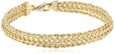 14k Yellow Gold Braided Rope Bracelet -- Find out more about the great product at the image link.