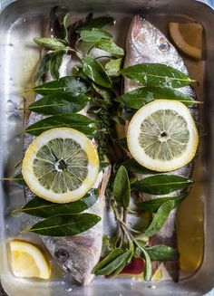 Plated Stories: Whole herbed fish lemon and wine in the oven