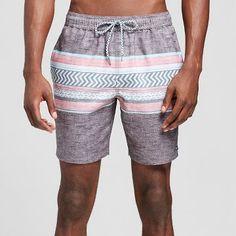 31ae26bf78 Men's Chevron Colorblock Swim Trunks Black - Trinity Collective Men's  Swimsuits, Swimwear, Chevron,