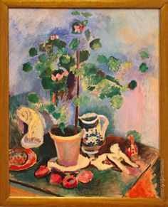 Henri Matisse - Still Life with a Geranium, 1906. The Art Institute of Chicago