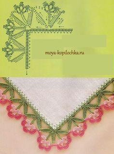 As Receitas de Crochê: Barrado floral em crochê