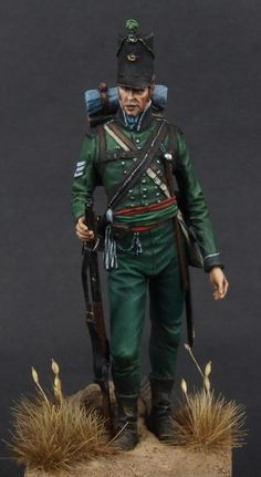 Sgt. Rifle Bgde 95th Rgt of Foot Coruna 1809, by Robert Crombeeke