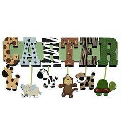 Safari nombre cartel personalizado con el nombre de tu hijo