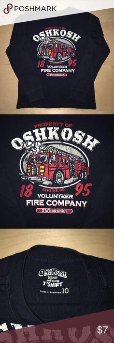 "OshKosh Long Sleeve Fire Truck Shirt Size 10 OshKosh Long Sleeve Fire Truck Shirt Size 10 Gently worn, No flaws Long Sleeve Shirt Fire Truck Graphic "" Volunteer Fire Company Station Chief "" OshKosh B'gosh Shirts & Tops Tees - Long Sleeve"
