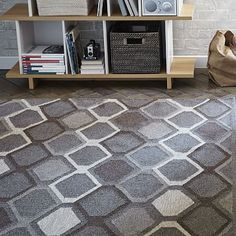 Concentric Diamond Wool Kilim Rug #westelm
