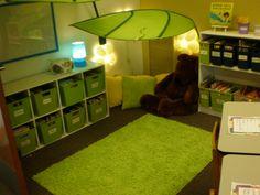 Love this reading corner!! Classroom Organisation, Classroom Displays, Classroom Setup, Classroom Design, Classroom Setting, Future Classroom, Classroom Tools, Organization Ideas, Toddler Classroom