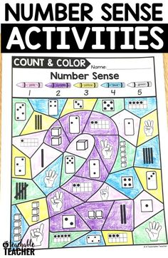 Practice numbers and build number sense with these color by number activities! These math coloring sheets are perfect for number sense in kindergarten and first grade math worksheets. The kids really have to think to do these!   color by number   printable math worksheets kindergarten math activities   color by number worksheets   #kindergarten   #teacher   elementary math