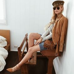 Tan   Jacket   Suede   Winter   Essentials   Shop the Empire Jacket   http://www.muraboutique.com.au/collections/outerwears/products/empire-jacket-tan?variant=21620779143  #muraboutique