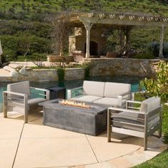 Outdoor Best Selling Home Decor Furniture Valeria 5 Piece Patio Conversation Set - 297019