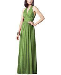 "<meta charset=""utf-8""> <h5>Stylist Notes</h5> <p><span>The ruching on the sides of the bust flatter the midsection like whoa! -Sonali</span></p> <h5>Description</h5> <ul> <li>Dessy Collection Style 2908</li> <li>Full length bridesmaid dress</li> <li>Modified v-neck halter neckline</li> <li>Natural waist</li> <li>Lux chiffon</li> </ul>"